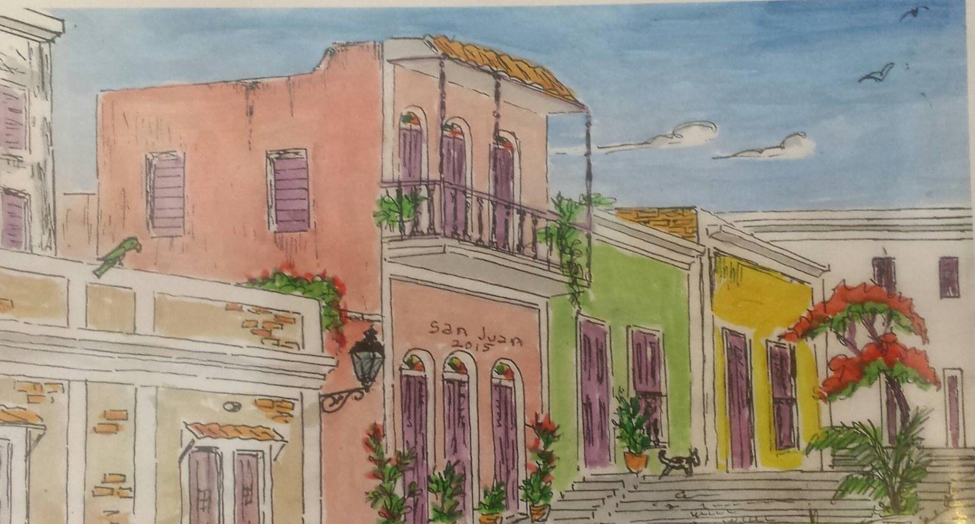 Wilfred Labiosa: Pinturas Abstractas, Paisajes y el viejo San Juan
