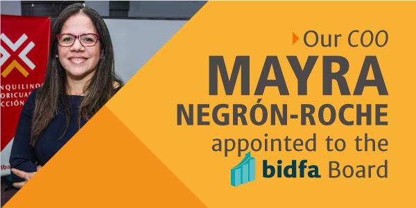 IBA COO Mayra I. Negrón-Roche Appointed to BIDFA Board of Directors