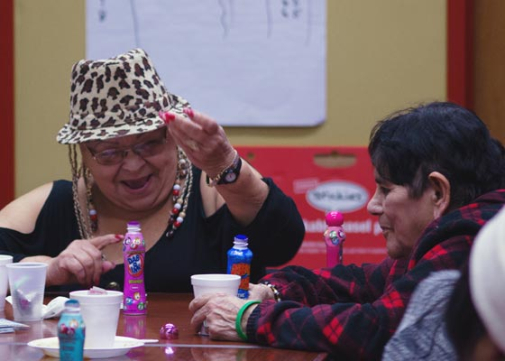 Our residents having fun playing bingo